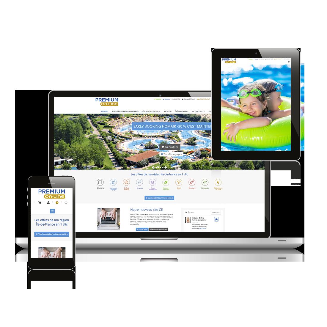 Premium online site internet comite entreprise lead leader