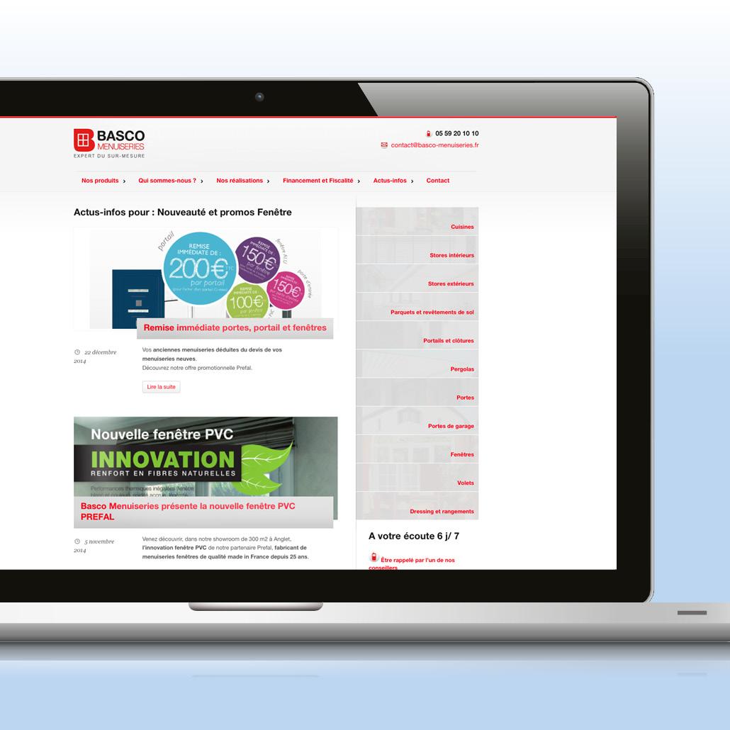 Site internet et animation des actualités de la marque
