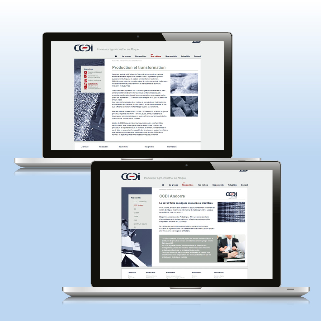 Site corporate responsive