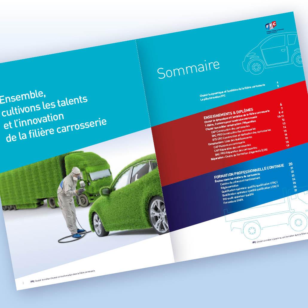 stratégie de communication agence marquante FFC formation brochures 2