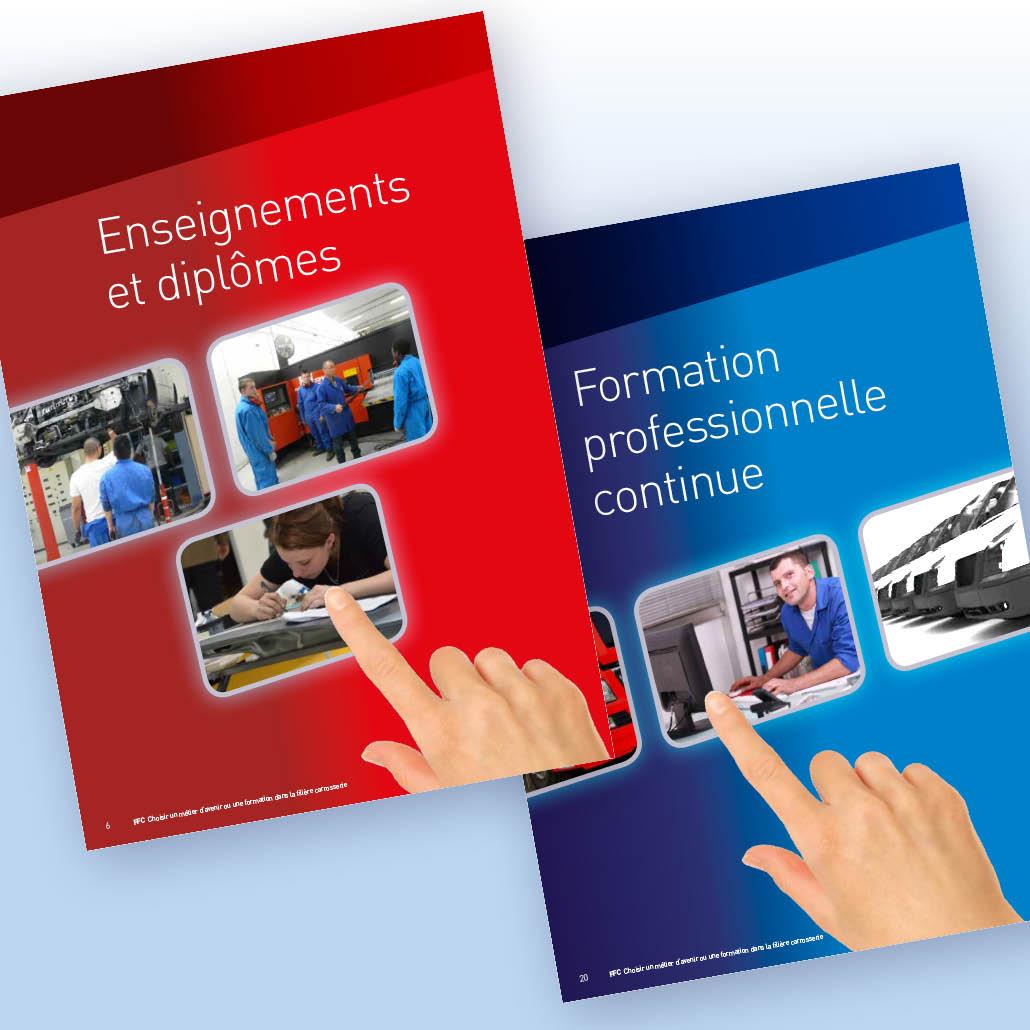 stratégie de communication agence marquante FFC formation brochures