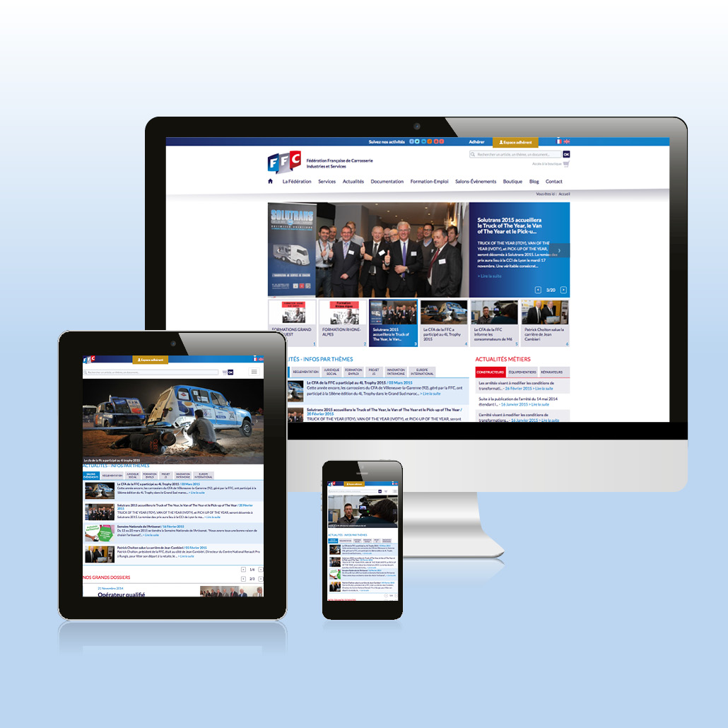 Site internet institutionnel à forte dimension éditoriale