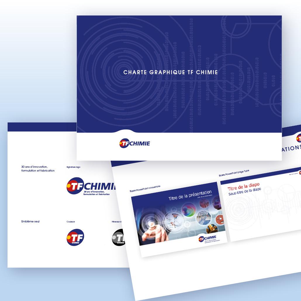 agence design paris agence marquante TF CHIMIE Charte graphique