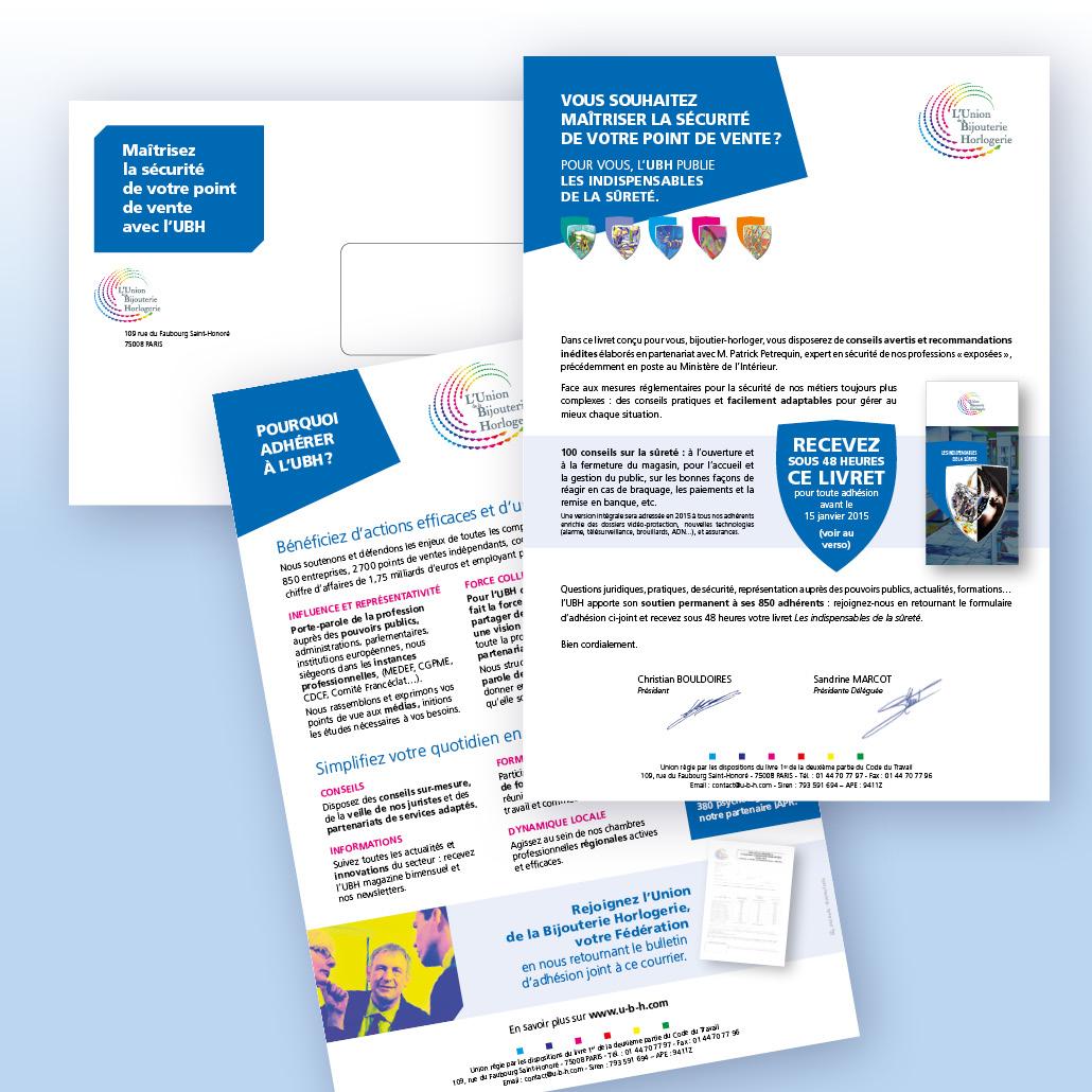 Stratégie de communication fédération UBH com relationnelle - Mailing de conquête