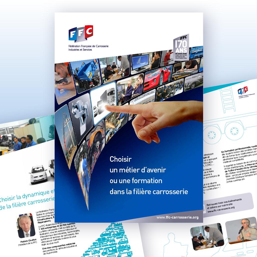 stratégie de communication agence marquante FFC formation Discours et brochure formation