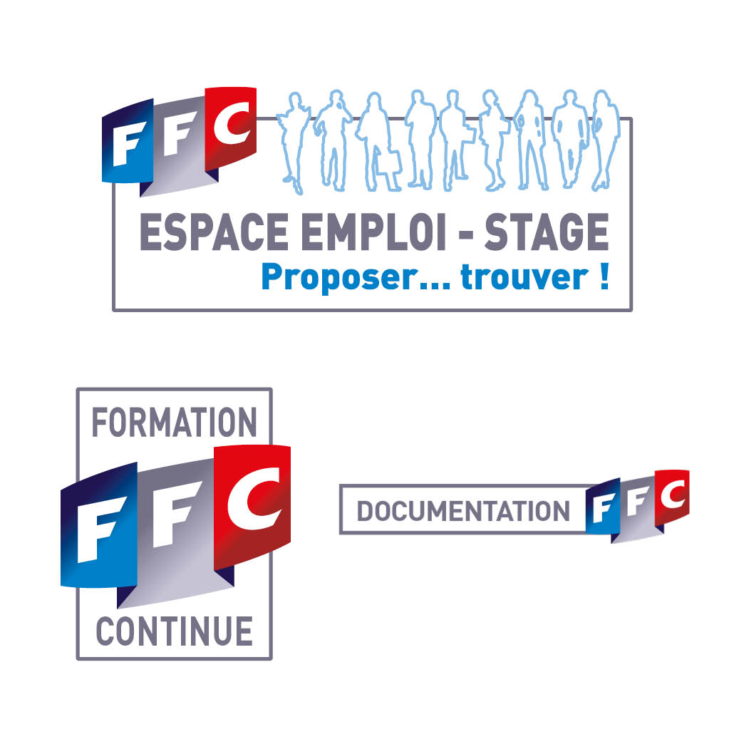 """stratégie de communication agence marquante FFC formation Identité visuelle -labels et logos """"missions"""""""