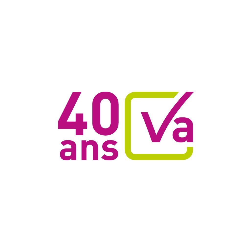 Concept de communication - création logo 40 ans du Cabinet