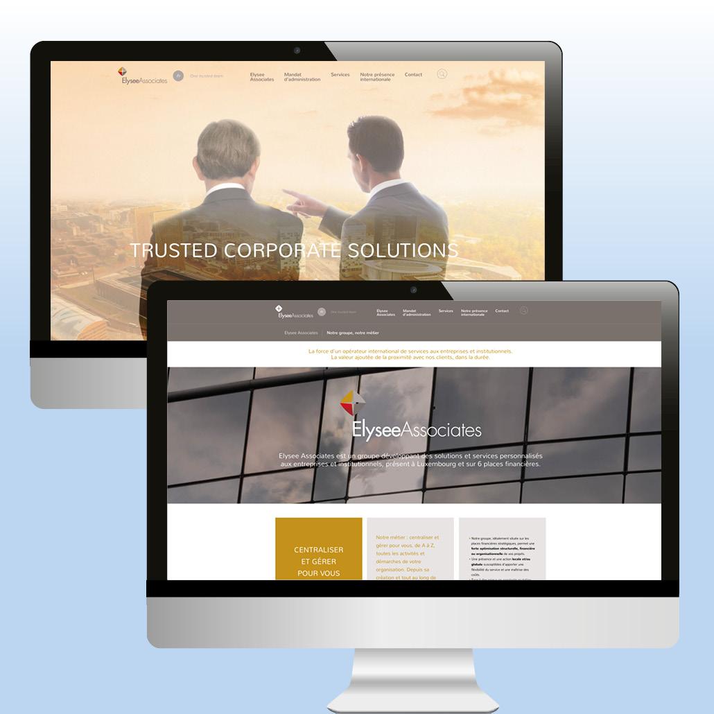 Identité de marque agence marquante site internet institutionnel bilingue ElyseeAssociates