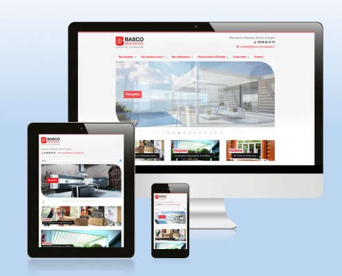 Site internet BtoC responsive Basco Menuiseries