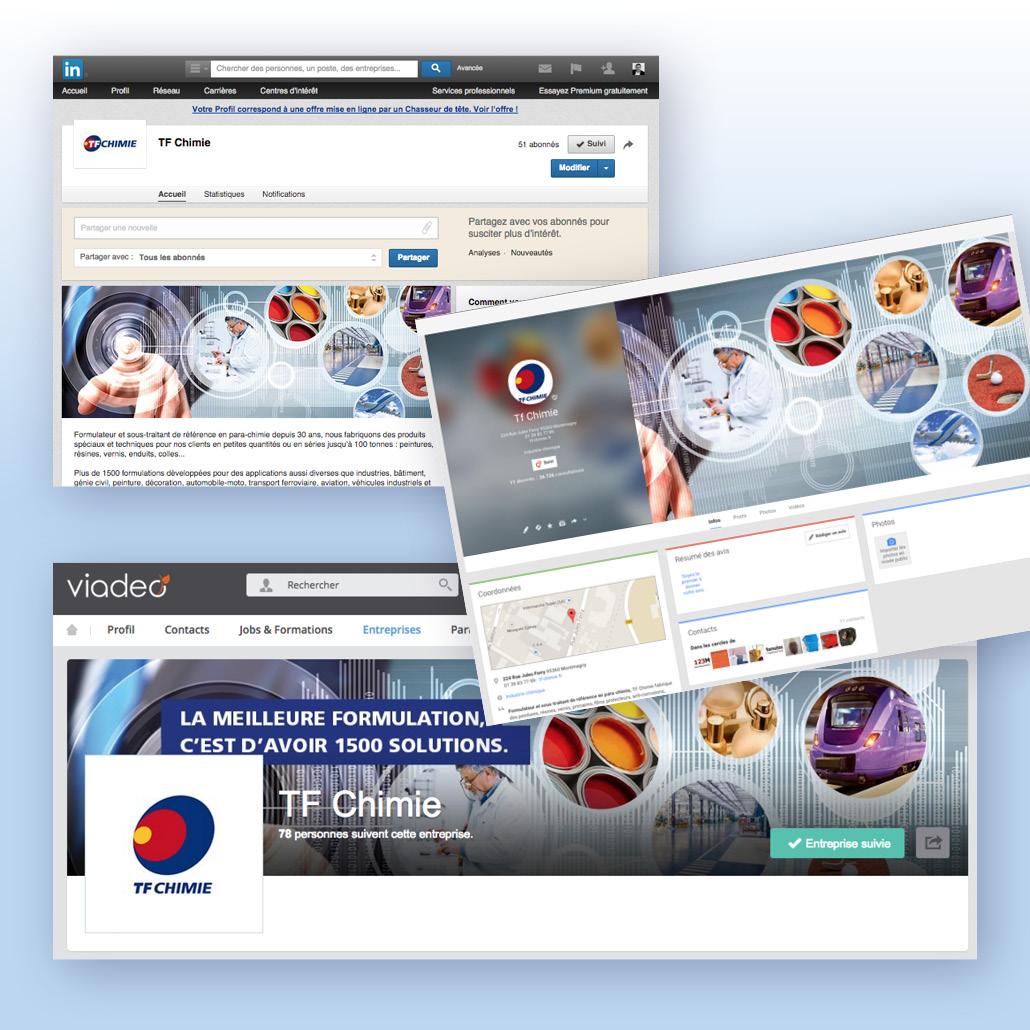agence design paris agence marquante TF CHIMIE Développement des réseaux sociaux