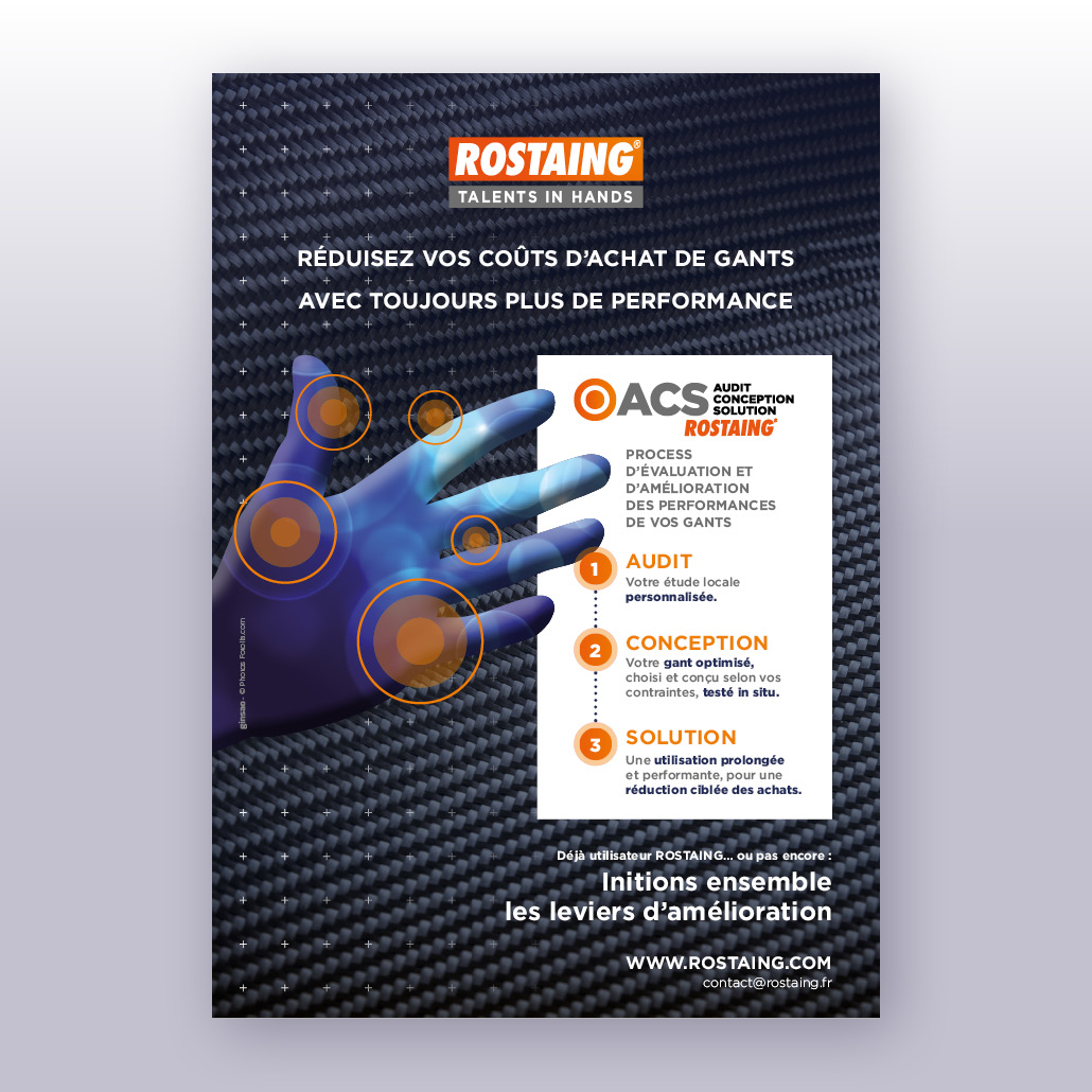 acs logo rostaing gants protection lead leader