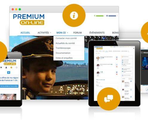 site web comite d'entreprise premium online