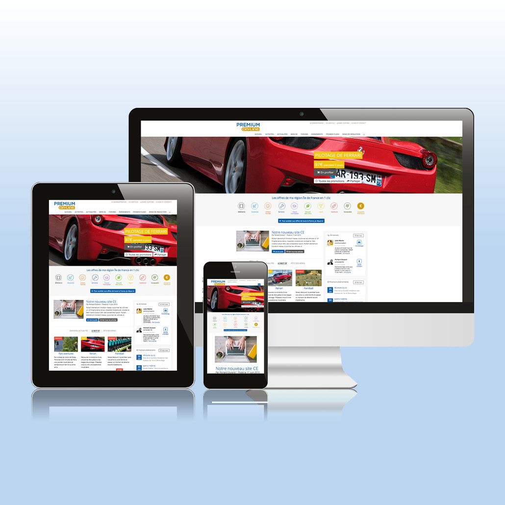 Application e-commerce spécifique responsive