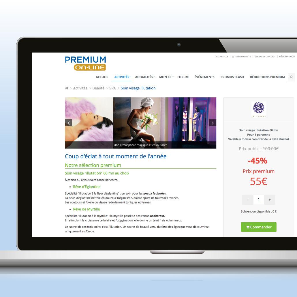 Application e-commerce développée spécifiquement
