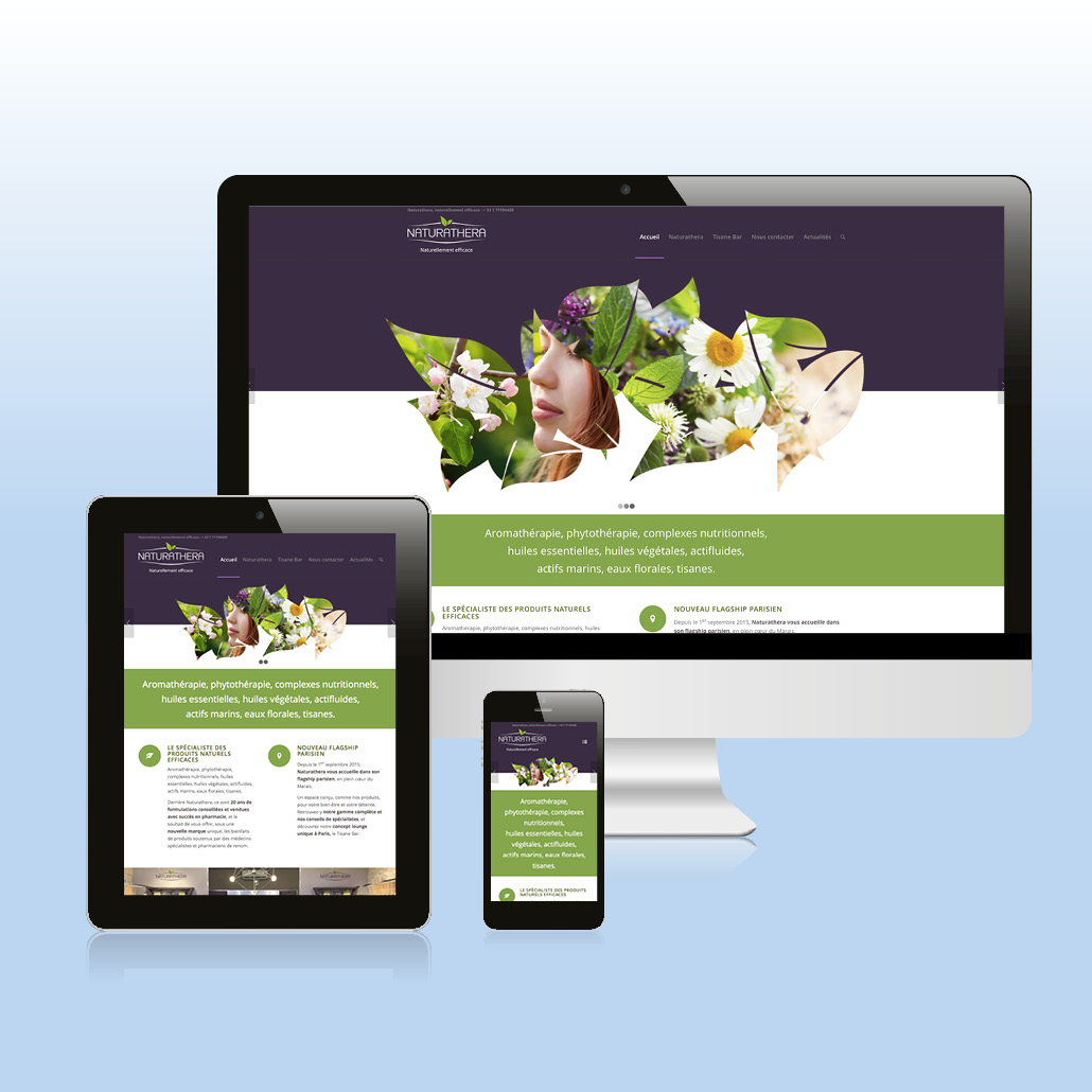 création de marque agence marquante Naturathera Site internet responsive e-commerce