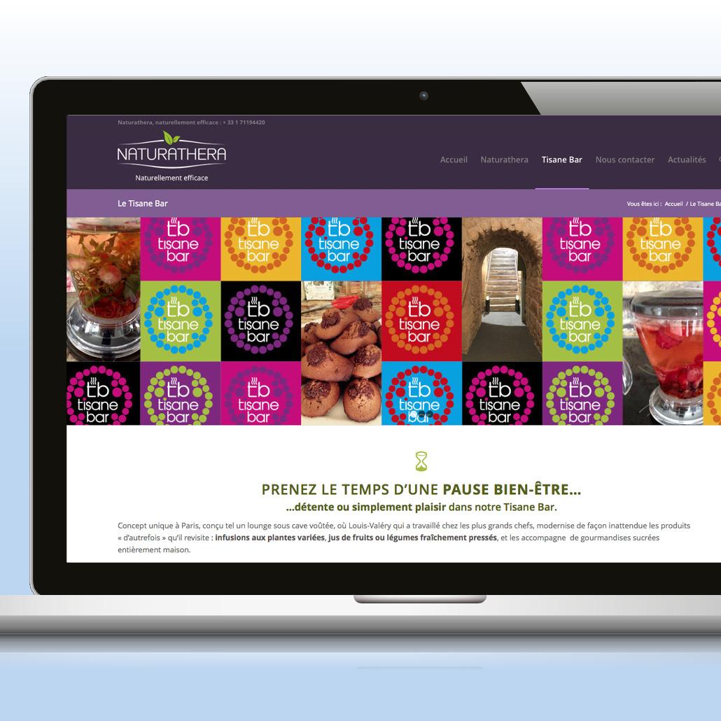 création de marque agence marquante Naturathera Site internet valorisant la marque et son concept